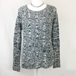 Forever 21 | Black & White Cable Knit Sweater